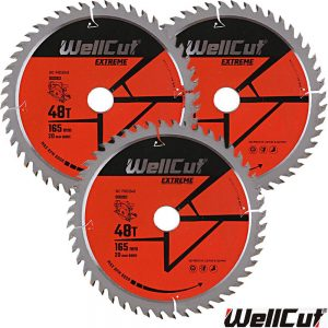 wellcut-tct-saw-blade-165mm-x-48t-x-20mm-bore-for-dewalt-dws520-gkt55-pack-of-3