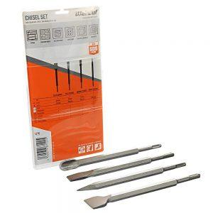 wellcut-sds-max-chisel-point-4-piece-rotary-hammer-drill-bit-set-250mm-d-40559